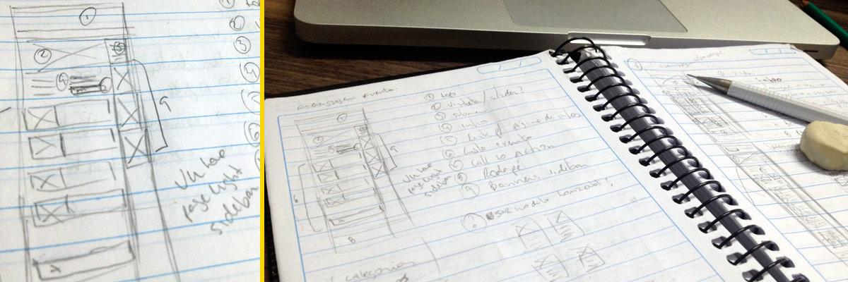 estudo de scketch para o site Sampa Bikers