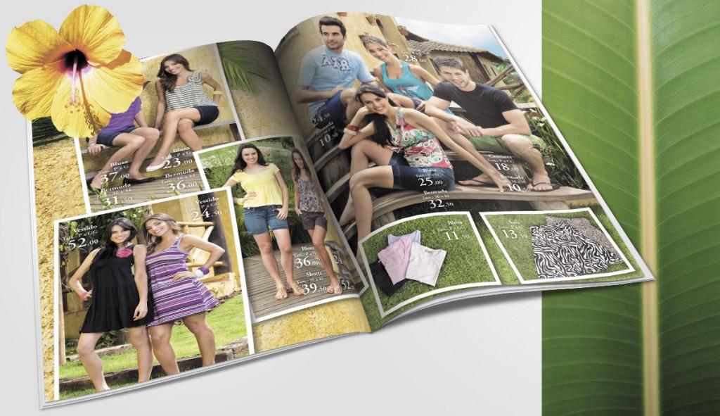 catálogo de verão para o Lojão do Brás