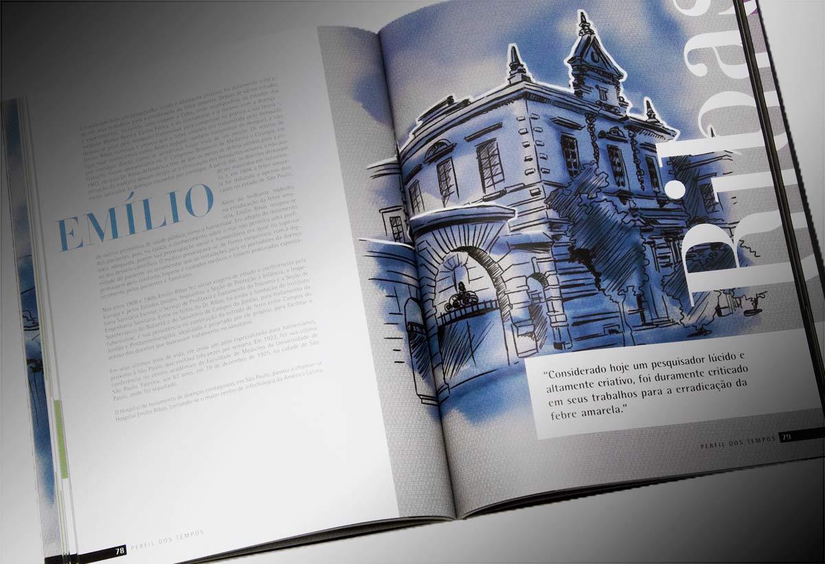 página interna do livro Perfil dos Tempos