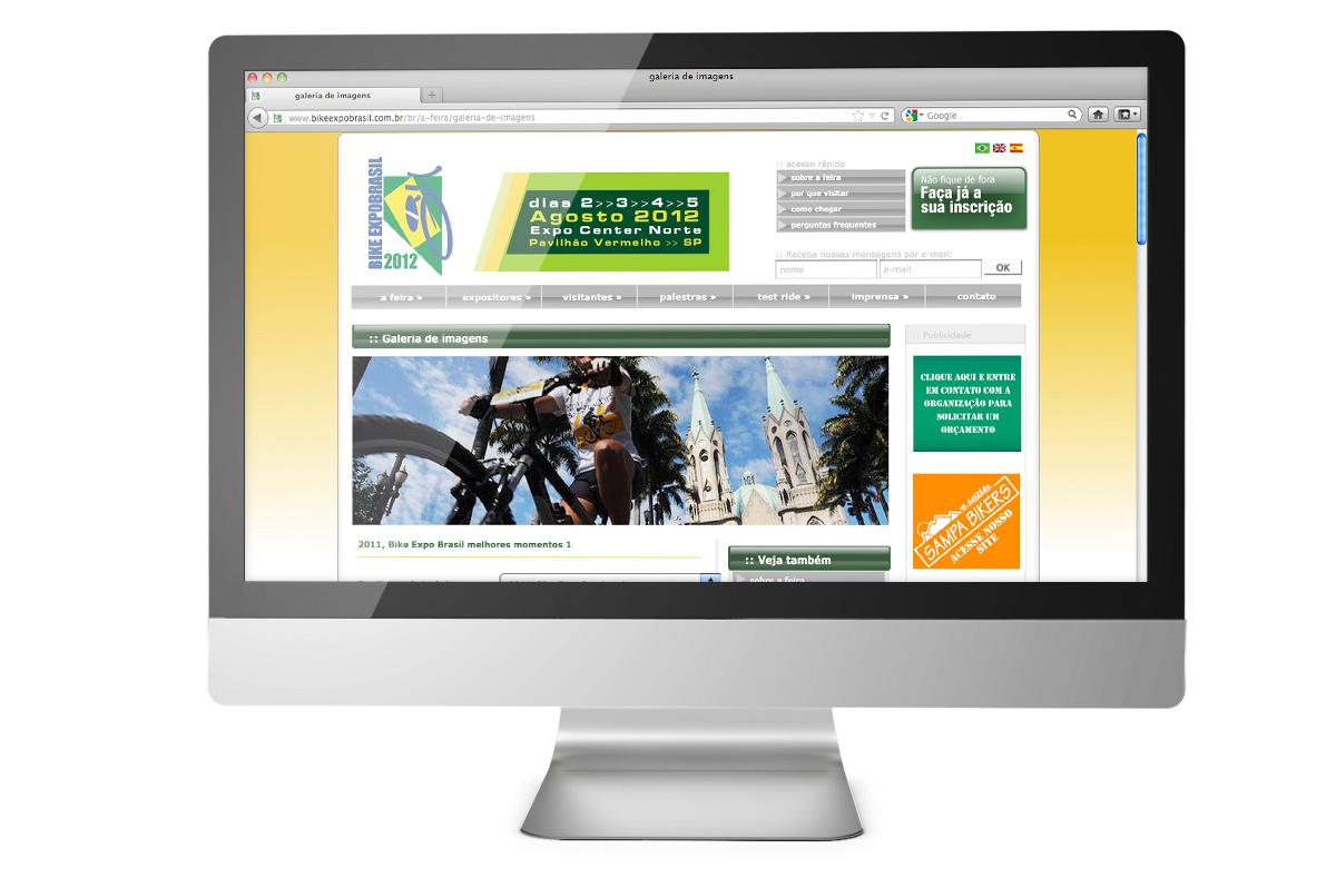 Site para a Bike Expo Brasil